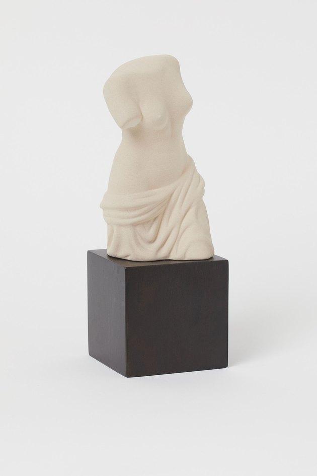classical ceramic sculpture of a torso