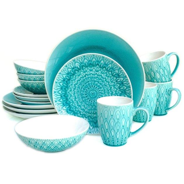 crackle glaze dinnerware set