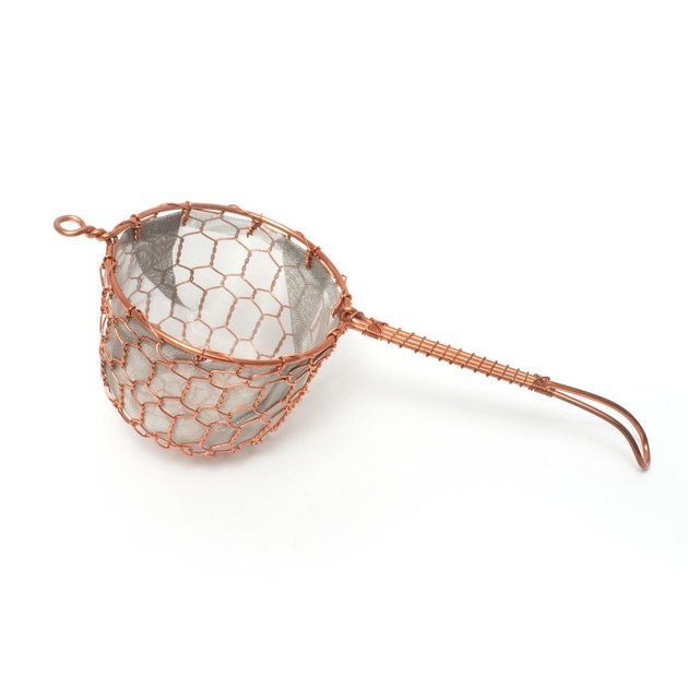 large copper tea strainer