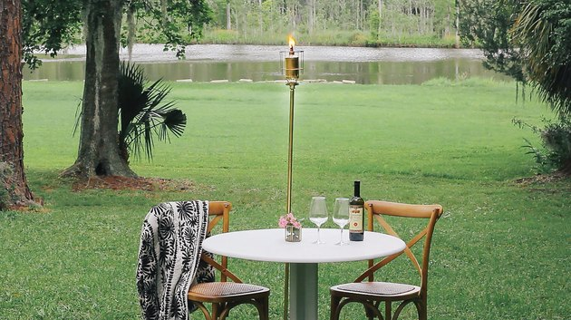 DIY modern citronella torch
