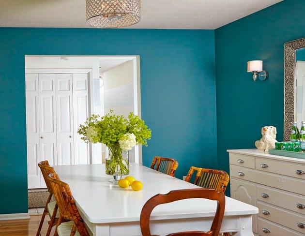 calypso blue dining room makeover