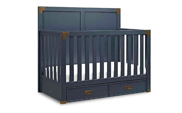 navy blue crib