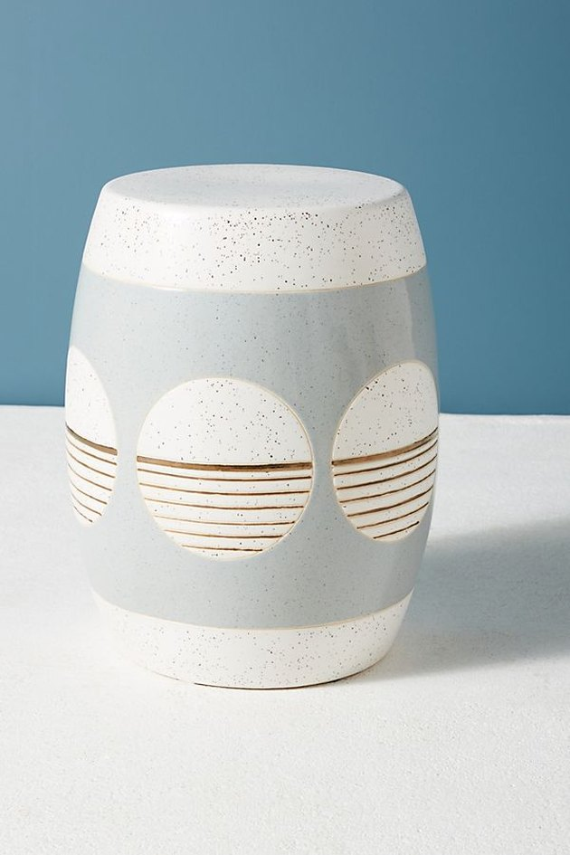 ceramic accent stool