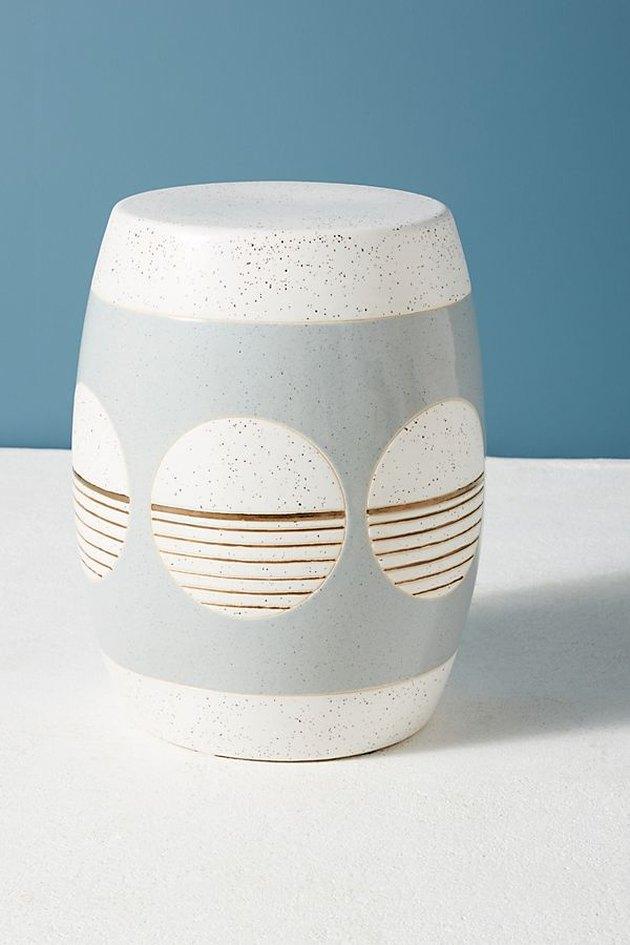 ceramic accent stool
