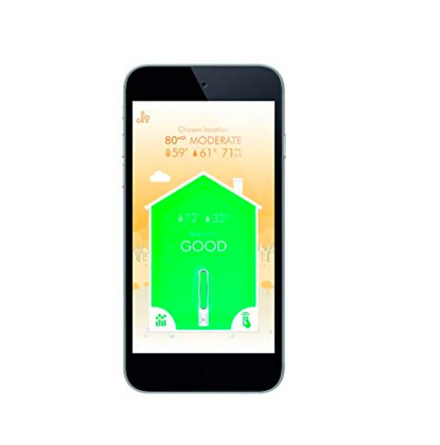 smartphone with screenshot