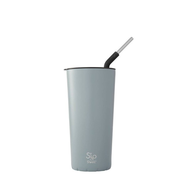 tumbler with stainless steel straw