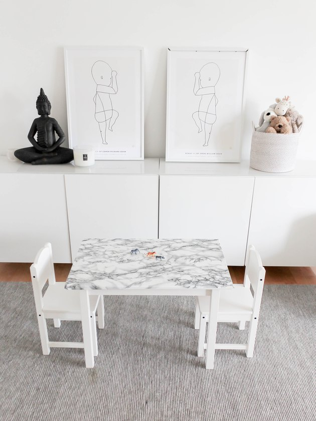 Ikea hack with kids play table and chairs