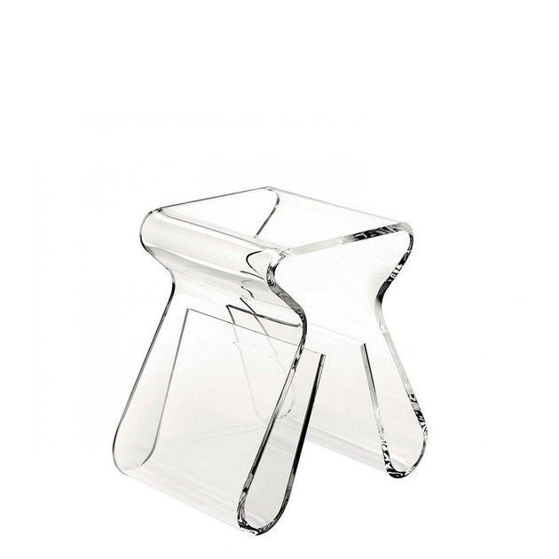 modern acrylic accent stool