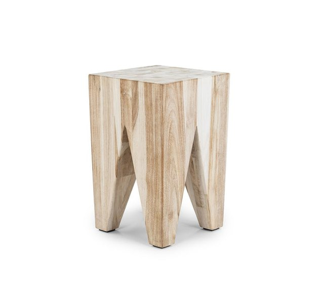 wooden tree stump accent  stool