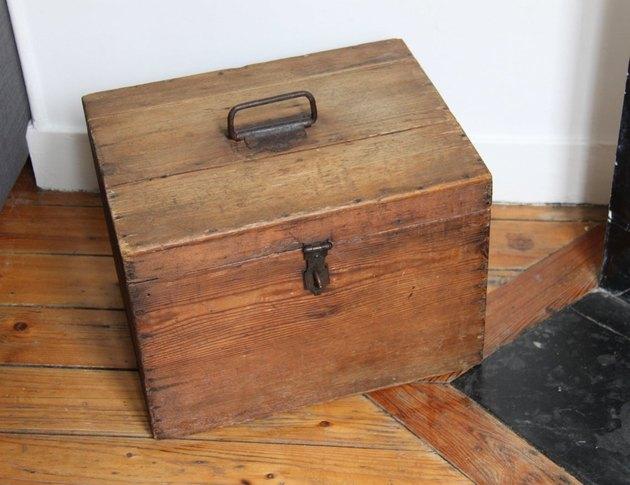 Vintage Wood Box, $145.64
