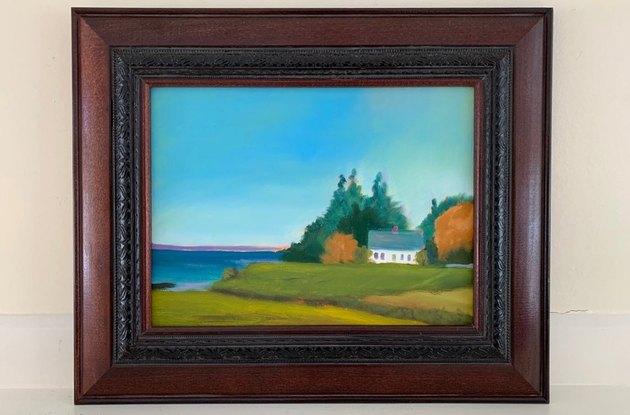 Vintage Landscape Oil Painting, $144.79