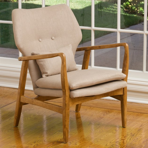 Noble House Hayden Wood Frame Club Chair, $203.60
