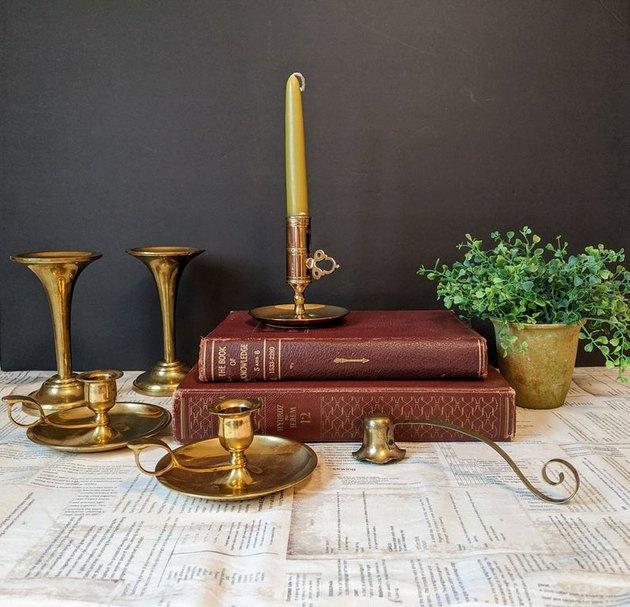 Vintage Brass Candle Stick Lot (5 holders), $72