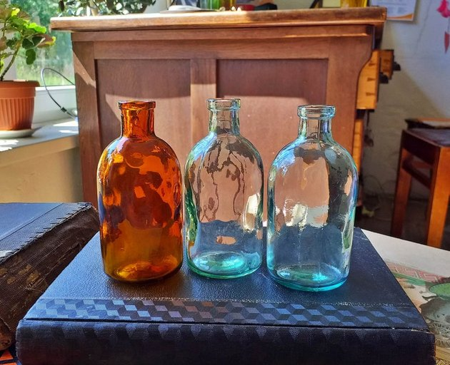 Antique Apothecary Bottles, $12