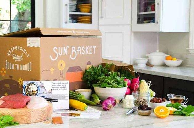 A Sun Basket meal box