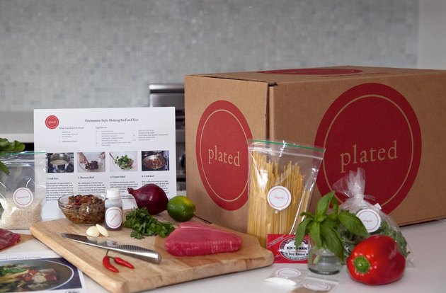 A Plated meal box