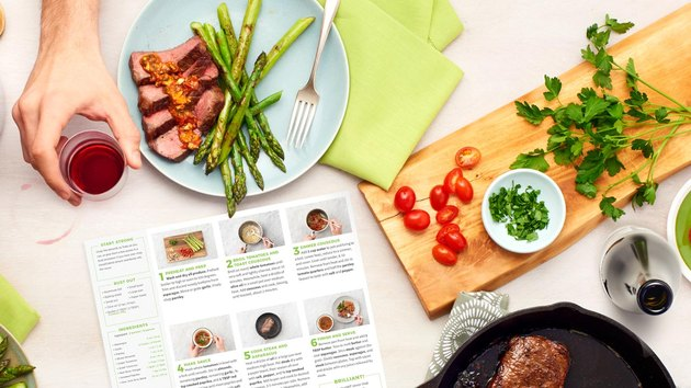 Hello Fresh recipe card and ingredients