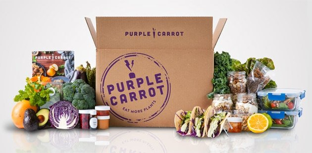 A Purple Carrot meal box