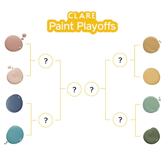 """graphic with title that reads """"Clare Paint Playoffs"""""""
