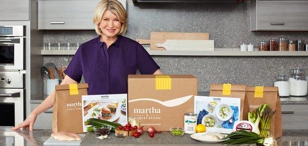 Martha Stewart with a Marley Spoon meal box