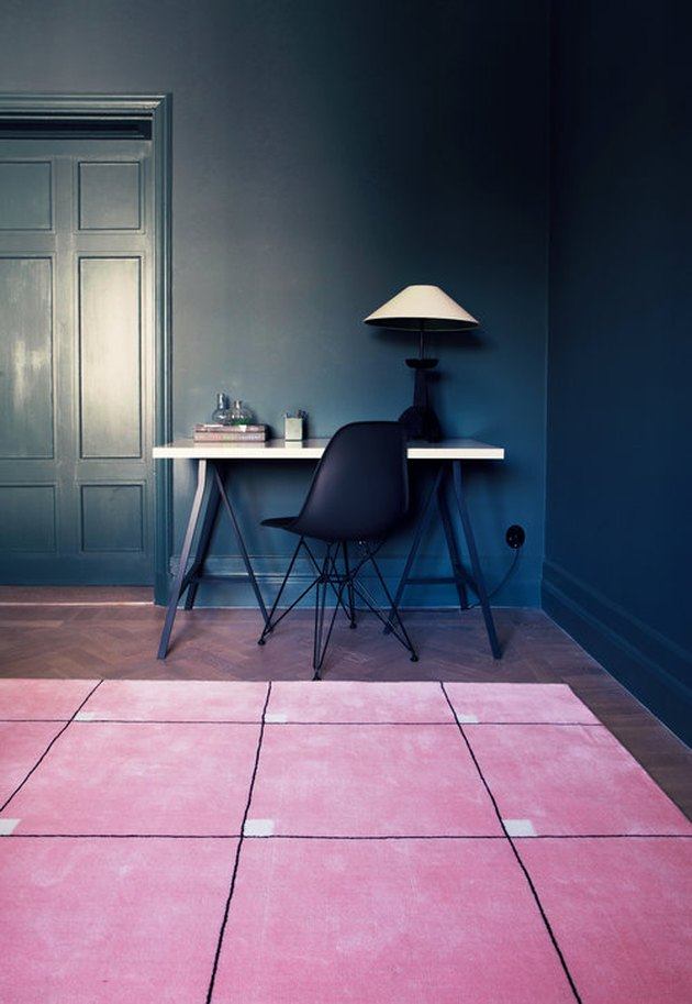 nordic knots pink rug