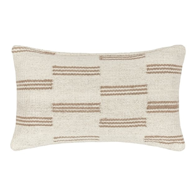patterned lumbar pillow