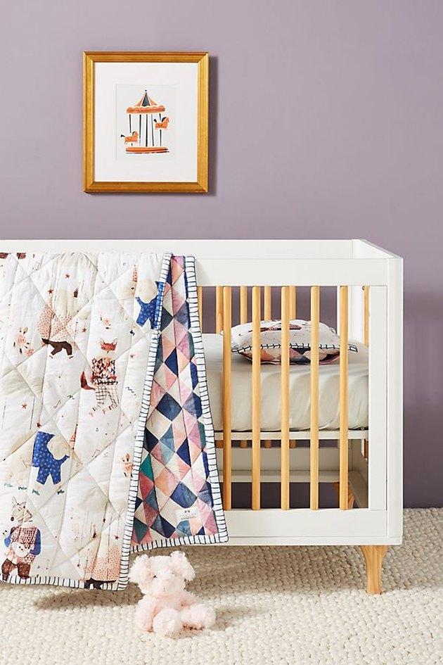 crib in nursery