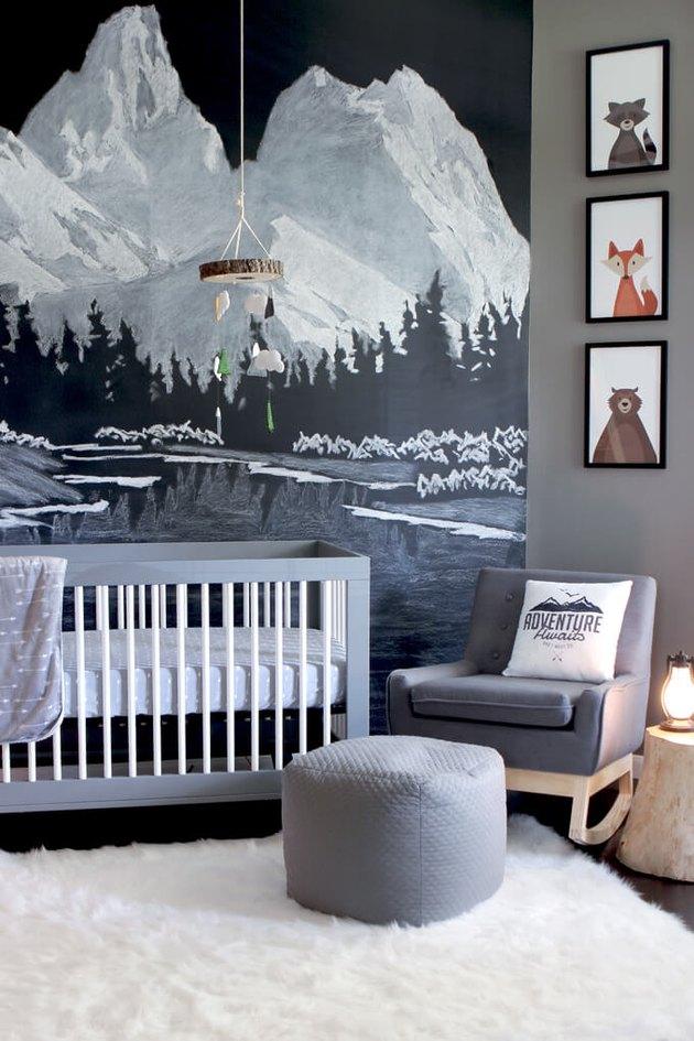gray baby nursery
