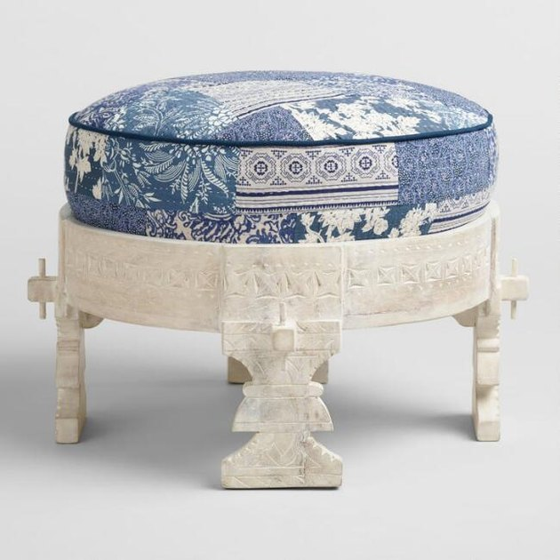 whitewash bajot stool