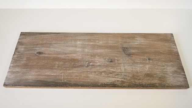 Faux weathered wood finish on new wood