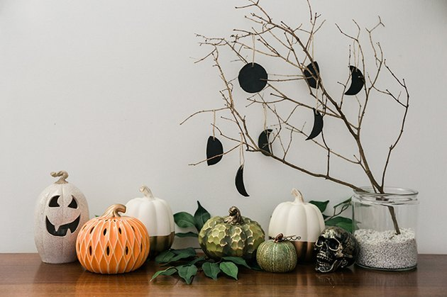 halloween moon ornament DIY