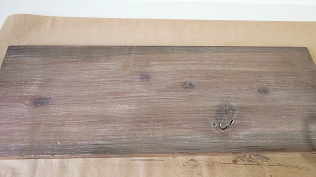 Faux weathered wood finish