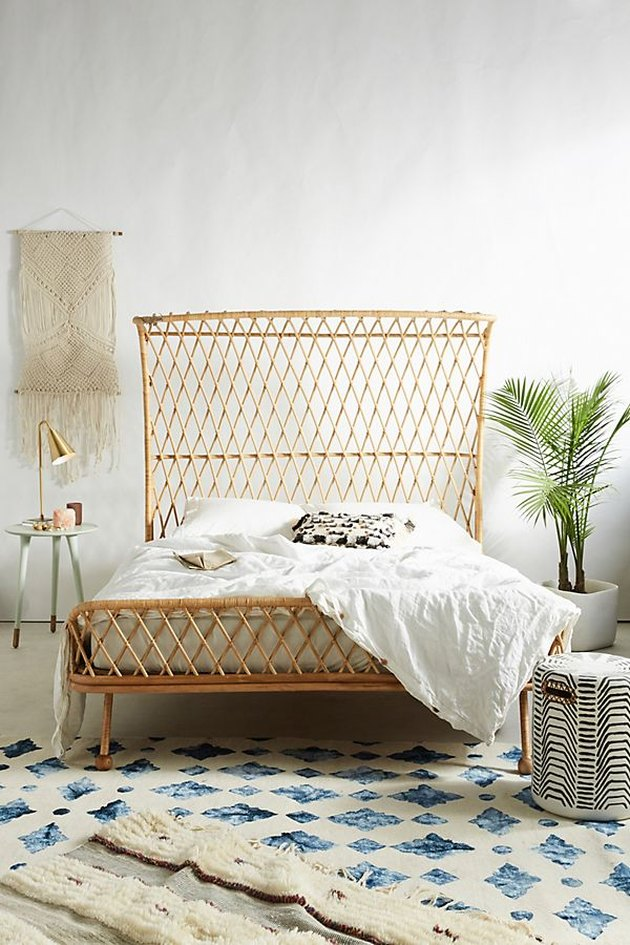 rattan bed