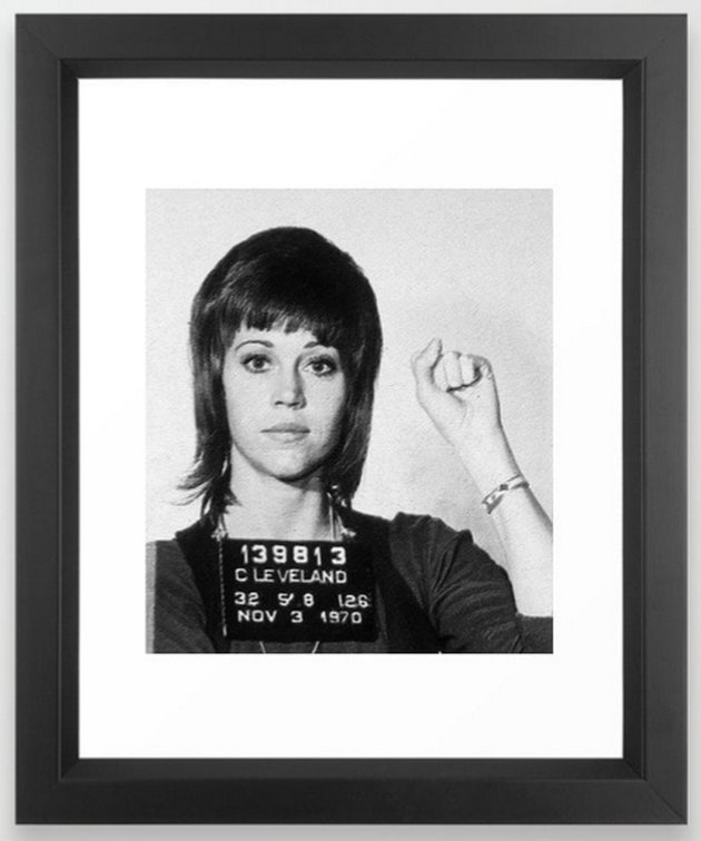 Jane Fonda Anti-War Mug Shot Print