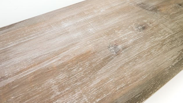 Faux weathered wood finish on new wood