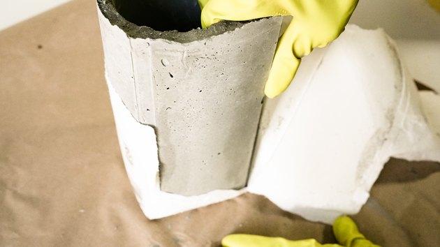 DIY Concrete Container for Kitchen Utensils
