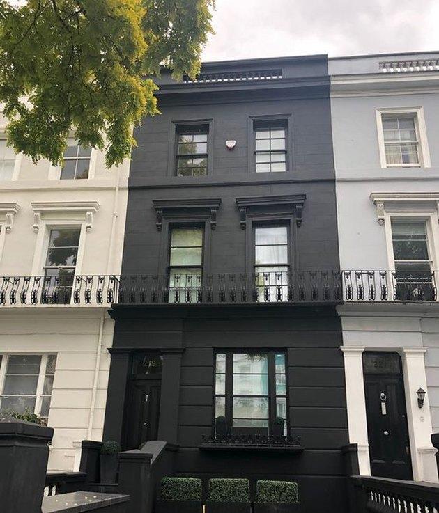 black home exterior for row house
