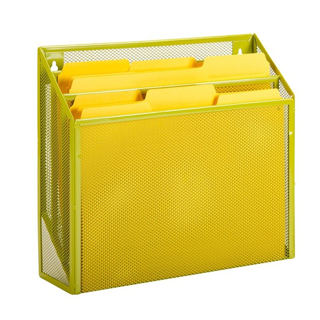 Honey Can Do Steel Mesh Vertical File Sorter with 3 Bins, $12.43