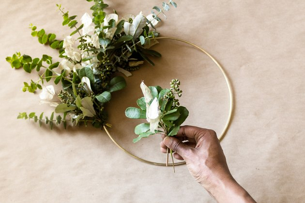 DIY Gold Hoop Wreath