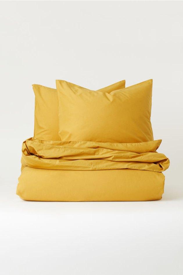 mustard duvet set