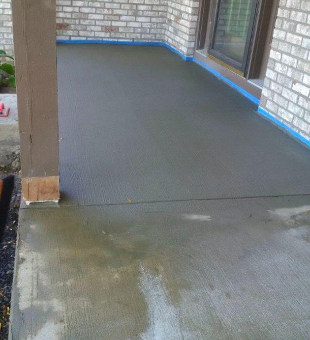Resurfacing a concrete porch.