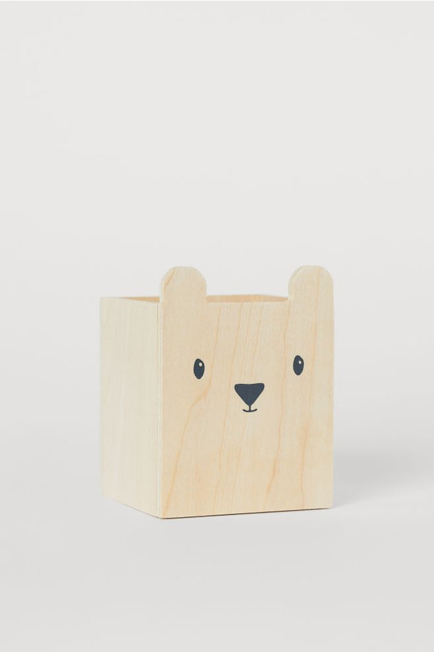 pen holder with ears and painted face
