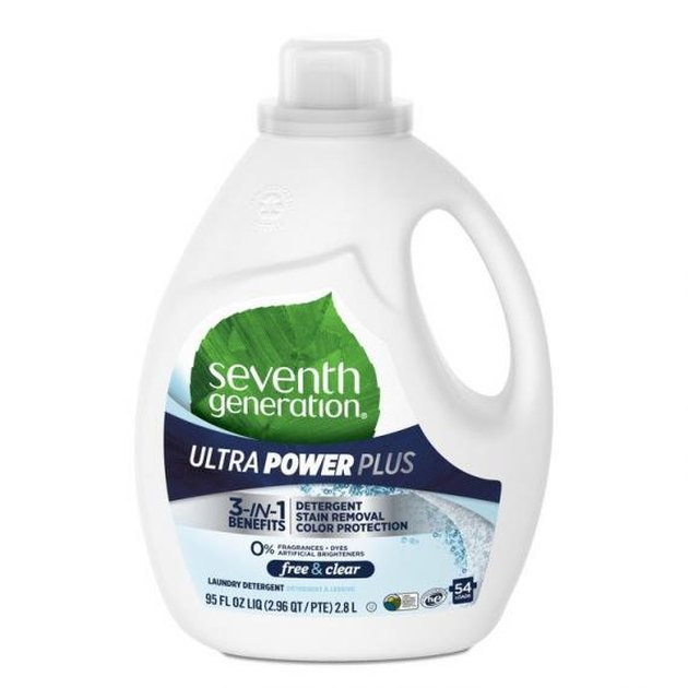natural cleaning products Seventh Generation laundry detergent.