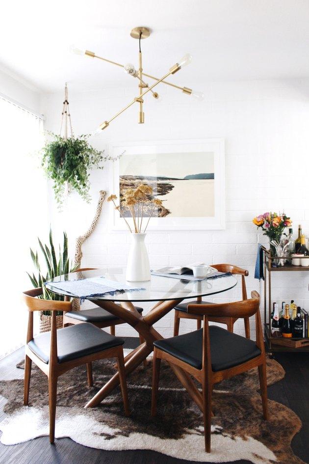 small midcentury dining room