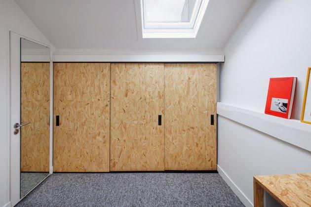 plywood closet doors