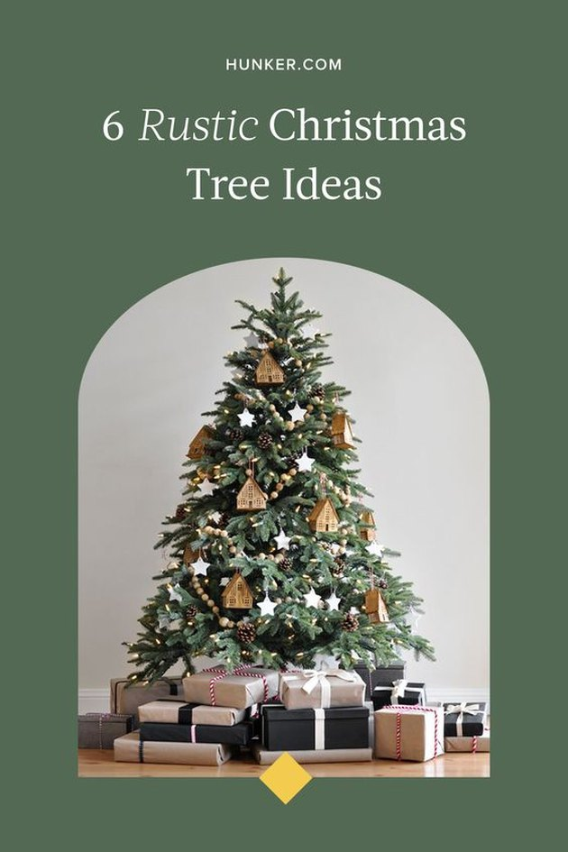 Rustic Christmas Tree Ideas and Inspiration