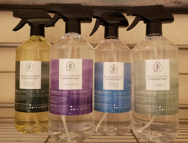 natural cleaning products PUR Home disinfectant cleaners