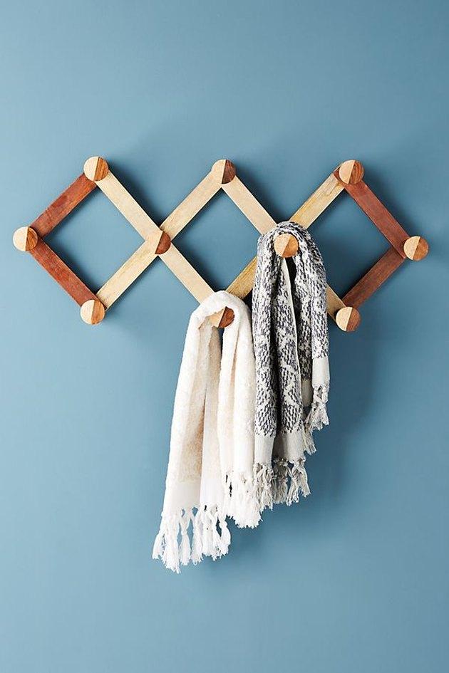 accordian wood rack