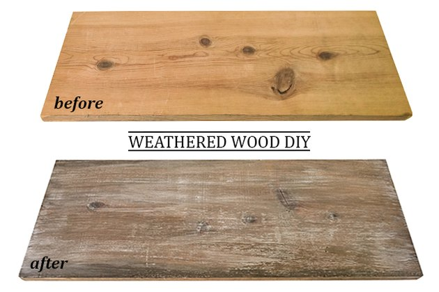 How to Make New Wood Look Weathered and Reclaimed (Farmhouse chic)