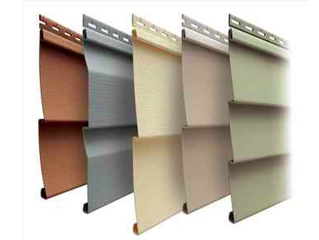 Collection of siding panels.